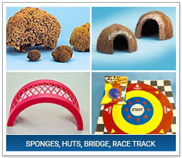 Sponges, Huts, Bridge, Race Track